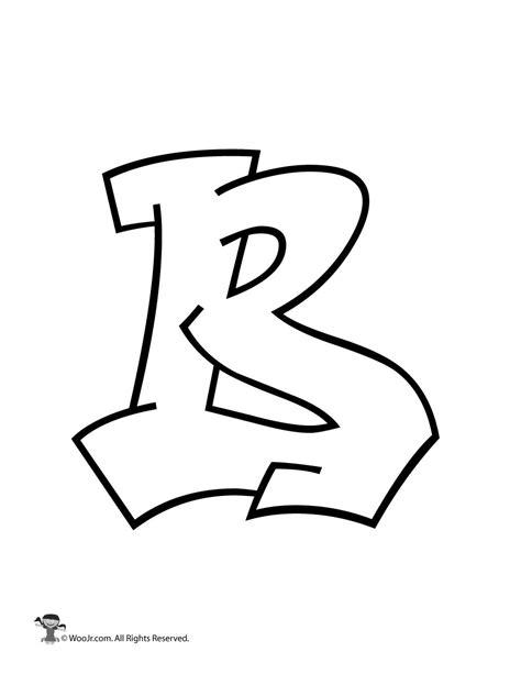 b in bubble letters graffiti capital letter b woo jr activities 20538   graffiti letter B