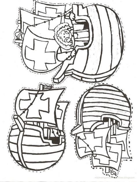 Las Tres Carabelas De Cristobal Colon Para Colorear by Dibujos De Las Tres Carabelas De Cristobal Colon Para