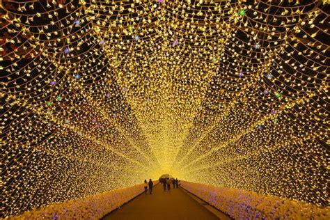 incredible nabana  sato light tunnels   millions
