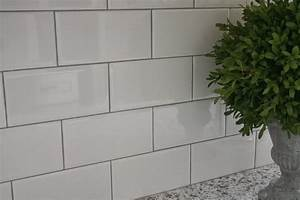 White tile bathroom gray grout amazing tile for White subway tile backsplash with gray grout