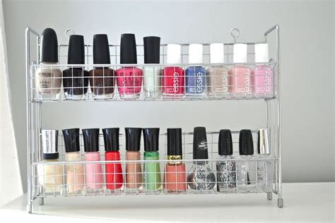 nail organizer rack 25 ways to organize your home using items you can find at