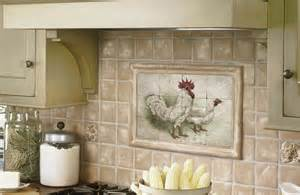 Kitchen Backsplash Tile Murals Cool Tile Backsplash Mural My Country Kitchen