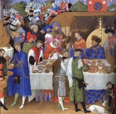 banchetti medievali allestimento o apparecchiatura della tavola