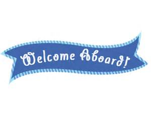 Welcome aboard Sign Clip Art