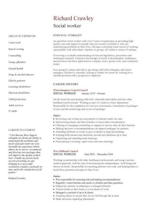 Skills To Put On A Resume For Social Work by Social Worker Resume Template This Cv Template Gives You