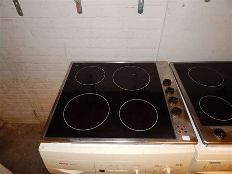 kookplaat 48 cm gebruikte keramische kookplaat merk pelgrim inbouw met