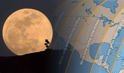 What Time Is The Blood Moon Visible In New