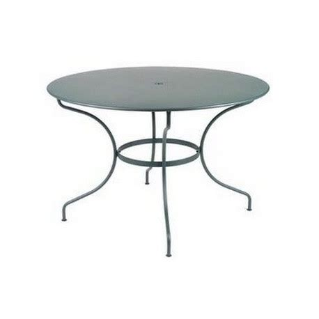 Tables De Jardin Fermob Vente Table De Jardin Ronde Acier 117 Cm Opera Fermob