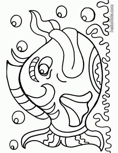 Coloring Fish Bass Printable Popular