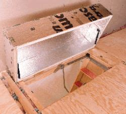 insulate  home   attic stair cover