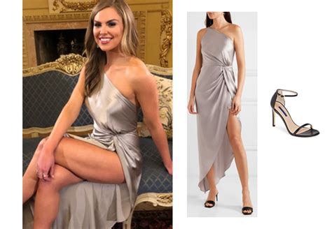 The Bachelorette Hannah Brown Season Episode Silver Dress And Nude Sandals Your Style