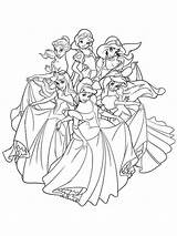 Princess Coloring Disney Pages Recommended sketch template