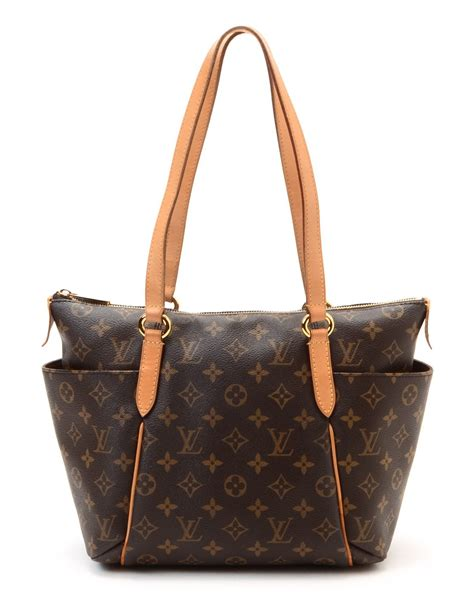 lyst louis vuitton totally pm tote  brown