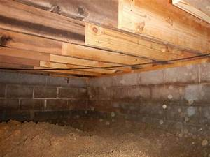 crawlspace floor joists before http www With structural floor joists