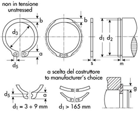 Sede Seeger by Anelli D Arresto Esterni Din 471 Uni 3653 7435 Tipo A