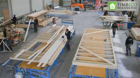 Prefab timber frame element (closed panel) manufacturing ...