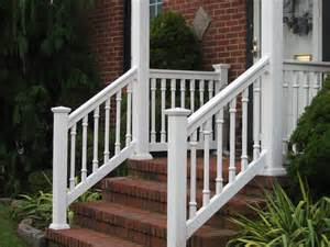 Rl09pvc Railing Rail Tops Fluted Spindle 5 Front Porch Ideas Style For Ranch Home