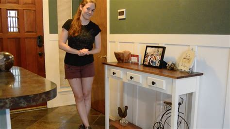 How To Make An Entryway Table by Diy Entryway Table With Faux Drawers