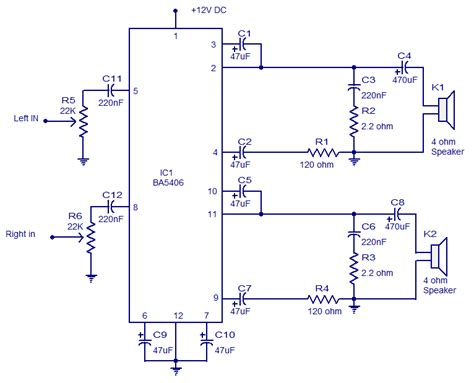 Wiring Schematic Diagram Stereo Amplifier Circuit With