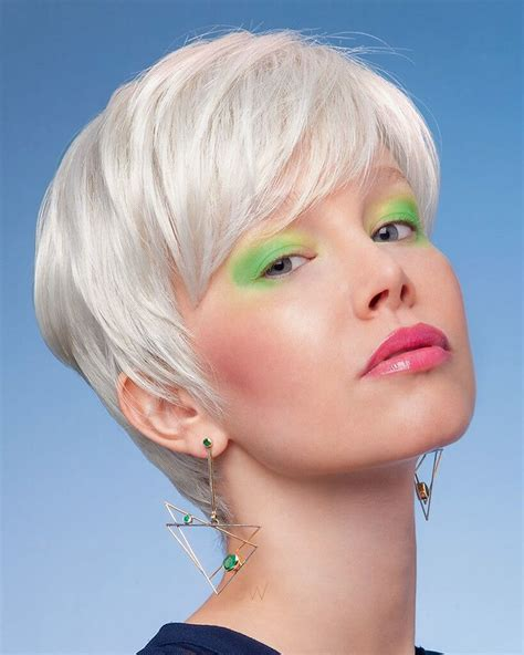 Opt for a super short bob which finishes around the jaw. Pixie Haircut Color ideas - 30+ » Short Haircuts Models