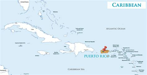 puerto rico map map  beaches top attractions