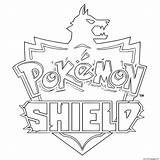 Shield Coloring Pokemon Pages Printable sketch template