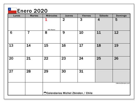 calendario enero chile michel zbinden es