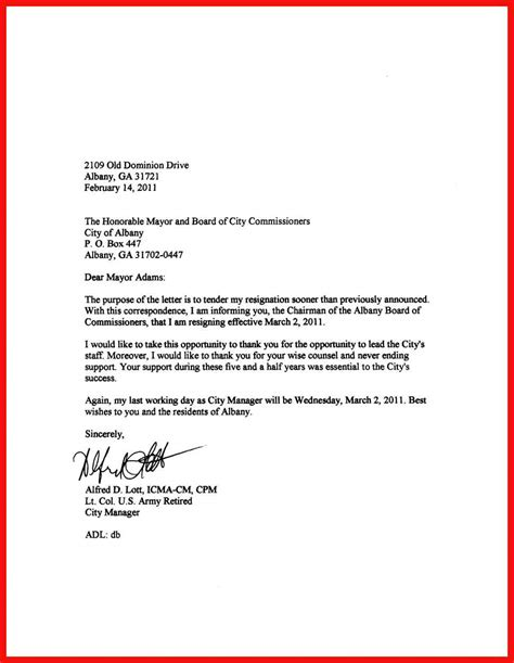 letter  quitting  job
