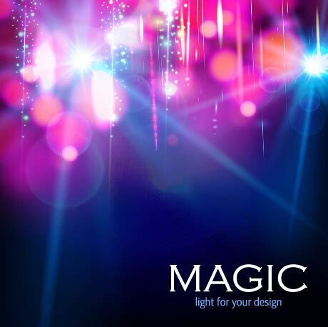 colorful magic colorful magic light shiny background vector free vector