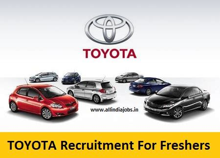 toyota recruitment   job openings  freshers