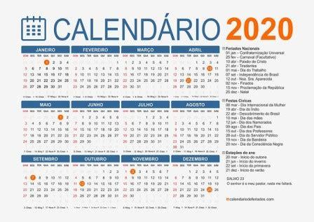 calendario feriados nacionais datas importantes