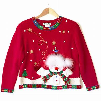 Ugly Sweater Christmas Snowman Tacky Clipart Needs
