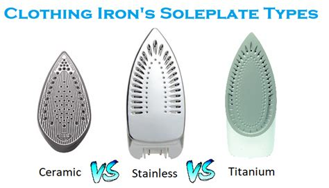 Clothing Irons Sole Plate Types — Ceramic Vs Stainless Vs