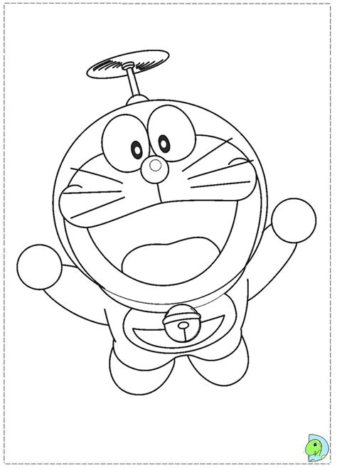 doraemon fishing coloring page coloring pages