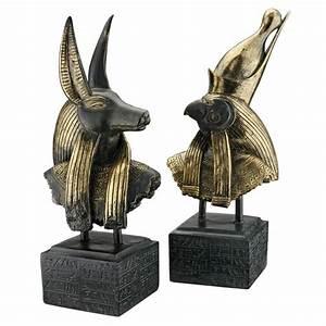 Gods of Ancient Egypt Sculptures: Anubis and Horus ...
