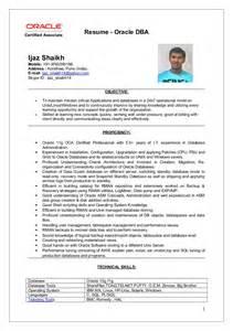 resume for oracle dba ijaz oracle dba resume updated