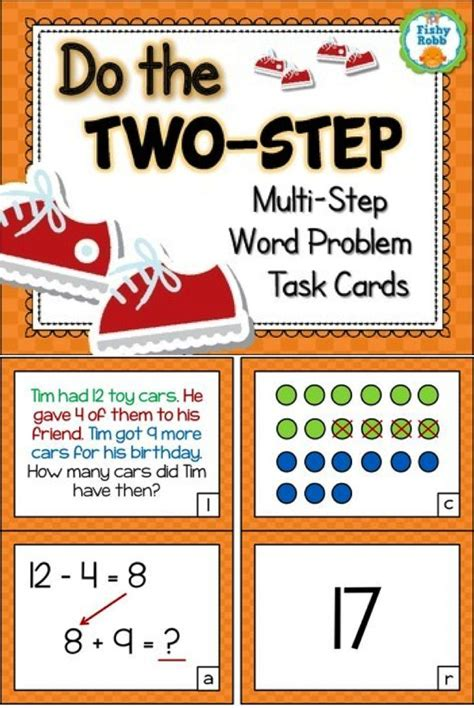 Twostep Word Problems  Addition And Subtraction Task Cards  Words, Word Problems And Cards