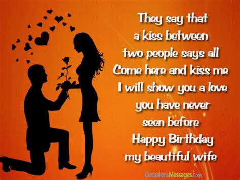 romantic birthday wishes  wife occasions messages