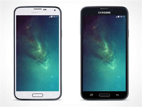android galaxy s5 android psd mockups