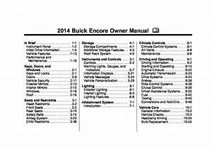 2013 Buick Encore Owners Manual