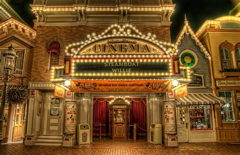 The Entrance Of A Cinema Hotel Or Theatre by Cinema Disneyland Another Pin In The Map Of