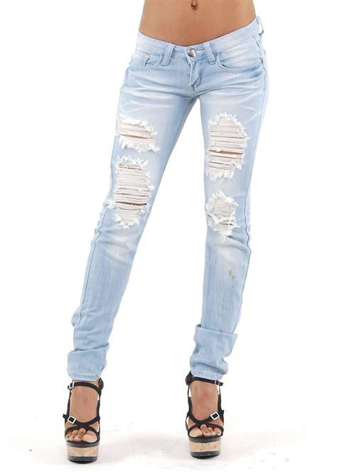 cheap light blue skinny jeans light blue ripped skinny jeans bod jeans