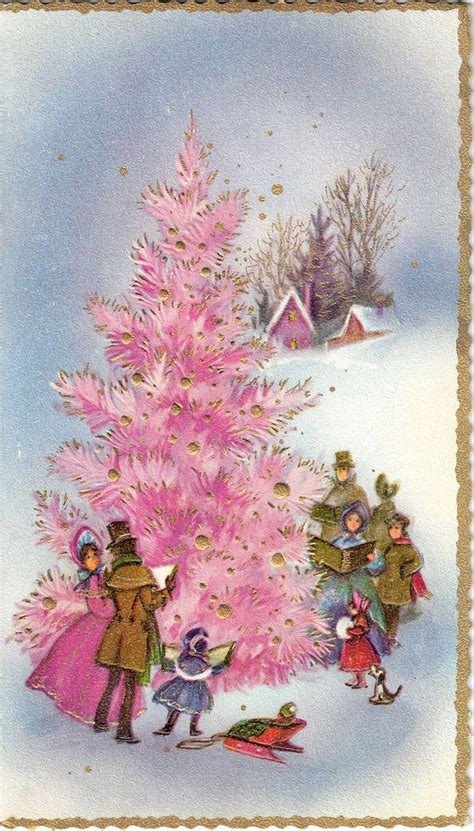 vintage xmas tree images images  pinterest