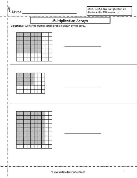 Grade 3 Math Multiplication Arrays Worksheets  Arrays Multiplication By Rzrzneck34a Teaching