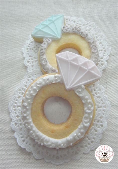 diamond ring cookies sugar cookies wedding shower cookies cookie cake designs wedding cake