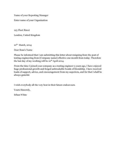 Get Our Example of Software Developer Resignation Letter for Free | Resignation letter