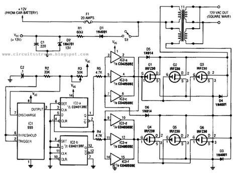 Simple Inverter Circuit Diagram Electronic