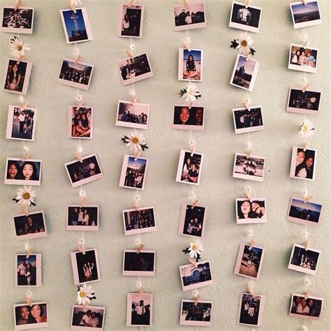 how to hang polaroid lights polaroid wall a way to hang polaroids up different from the ordinary bedroom