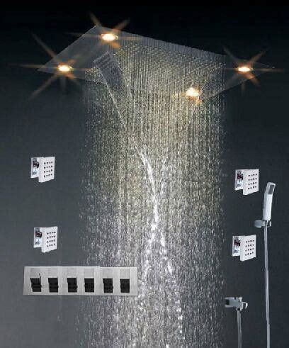 High End Shower Heads - high end color changing ceiling mounted shower