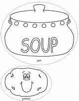 Soup Coloring Stone Pages Template Potato Colouring Pot Vegetable Printable Bowl Sheets Templates Crafts Dltk Print Getcolorings Milk Soups Chocolate sketch template